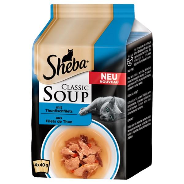Sheba Soup Thunfischfilet Multipack 4x40g