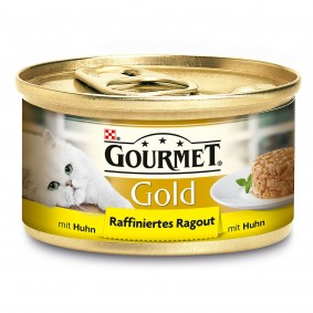 Gourmet Katzenfutter Gold Raffiniertes Ragout Huhn
