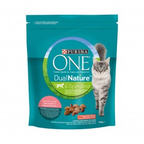 PURINA ONE DUAL NATURE Sterilized, Losos se spirulinou, 750 g