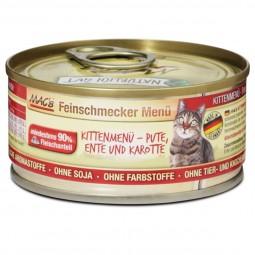 MAC's Cat Katzenfutter Feinschmecker Menü Kitten Pute, Ente und Karotte
