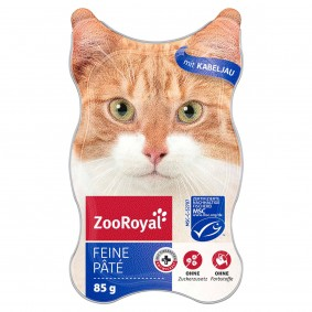 ZooRoyal Katzen-Nassfutter Feine Pâté mit Kabeljau