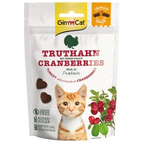 GimCat Crunchy Snacks Truthahn mit Cranberries