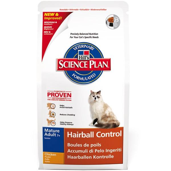 Hill's Feline Hairball Mature 7+ mit Huhn 1,5kg