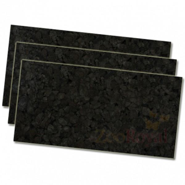 3 x Schwarzkorkrückwand 100x50x2cm