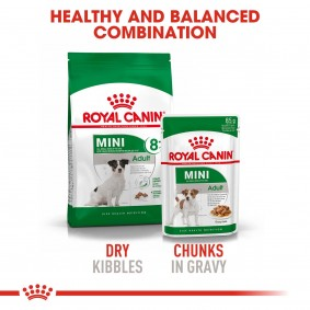 ROYAL CANIN MINI Adult 8+ 2kg + Mini Adult in Soße 12x85g