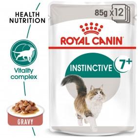 ROYAL CANIN INSTINCTIVE 7+ Nassfutter in Soße für ältere Katzen