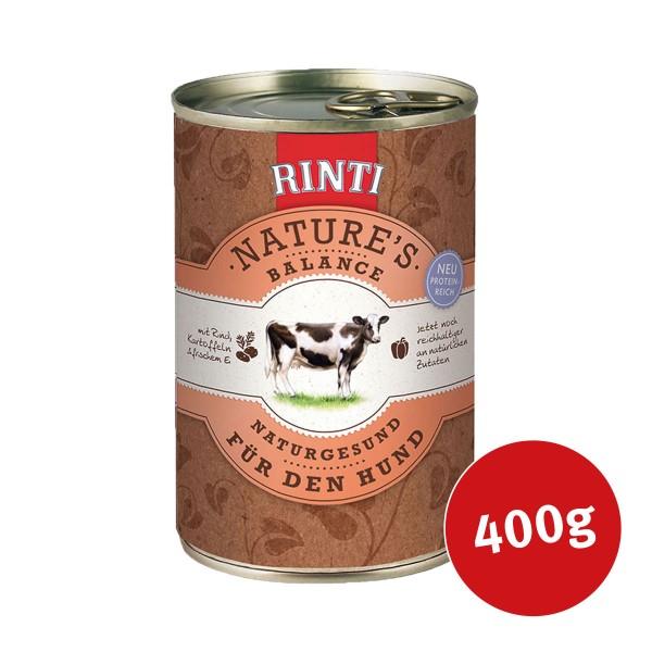 Rinti Nassfutter Nature's Balance mit Rind, Kartoffeln und Ei