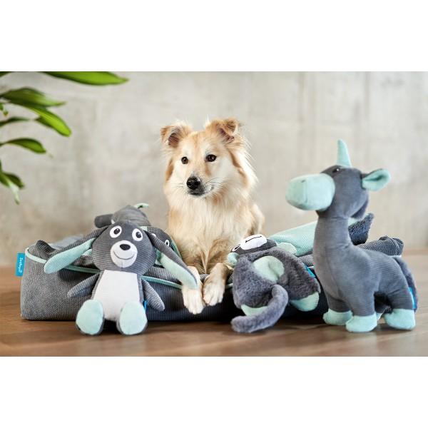 ZooRoyal Hundespielzeug Waschbär Anthrazit