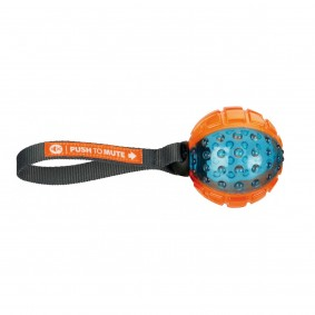 Trixie Push to mute Ball am Gurt ø7cm/22cm orange/blau
