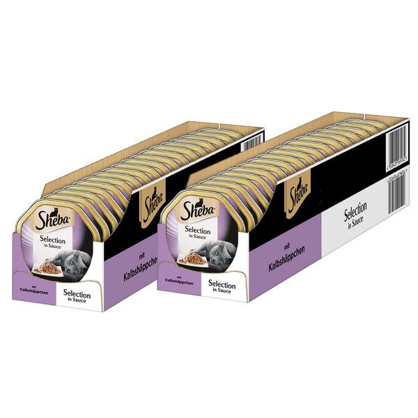Sheba Katzenfutter Selection in Sauce Kalbshäppchen 44x85g