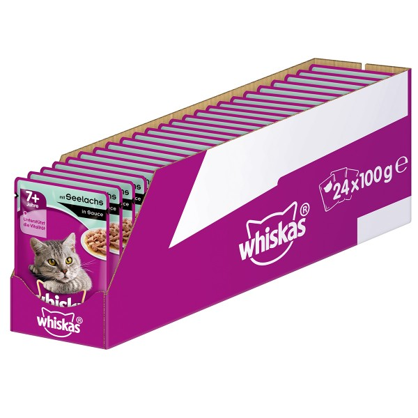 Whiskas Senior 7+ mit Seelachs in Sauce 24x100g