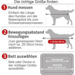 Wolters Reisedecke mit Schaffell-Imitation braun 100x75cm