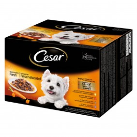 Cesar Feines im Frischebeutel Favoriten in Sauce 24x100g