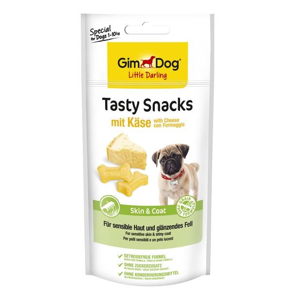 GimDog Little Darling Tasty Snacks Cheese und Skin & Coat 40g