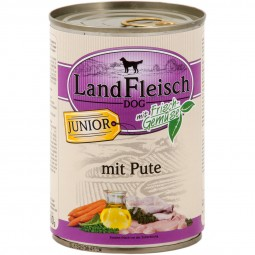 Landfleisch Dog Hundefutter Junior Pute
