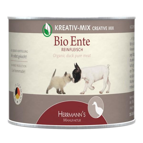 Herrmanns Bio Hunde- und Katzen-Ergänzungsfutter 100% Ente