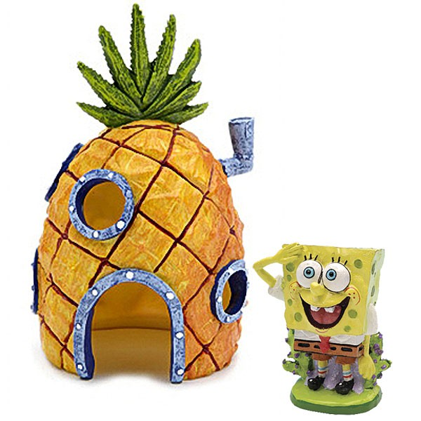 Spongebob Set - Spongebob Schwammkopf mit Ananas Haus