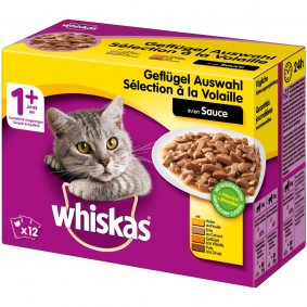 Whiskas Adult 1+ Geflügelauswahl in Sauce