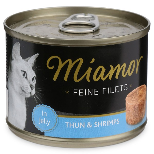 Miamor Katzen-Nassfutter Feine Filets in Jelly Thunfisch und Shrimps