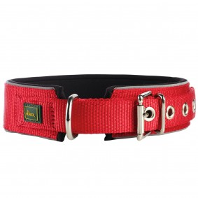 Hunter Neopren Reflect Halsband rot/schwarz