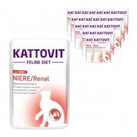 KATTOVIT Feline Diet Niere/Renal mit Rind 24x85g