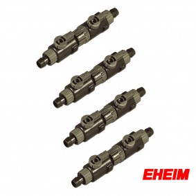 EHEIM Doppelhahn mit Schnelltrennkupplung 12/16mm im 4er Pack