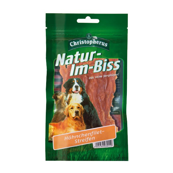 Christopherus Hundesnack Natur-Im-Biss Hähnchenfiletstreifen 70g