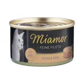 Miamor Feine Filets in Jelly Thunfisch und Käse 100g Dose