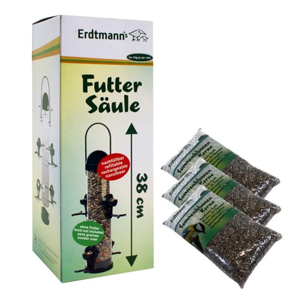 Erdtmann's Futtersäule 38cm + 7,5kg Sonnenblumenkerne
