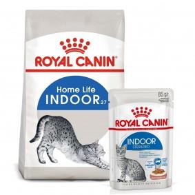 ROYAL CANIN INDOOR Trockenfutter 2kg + INDOOR Sterilised Nassfutter 12x85g