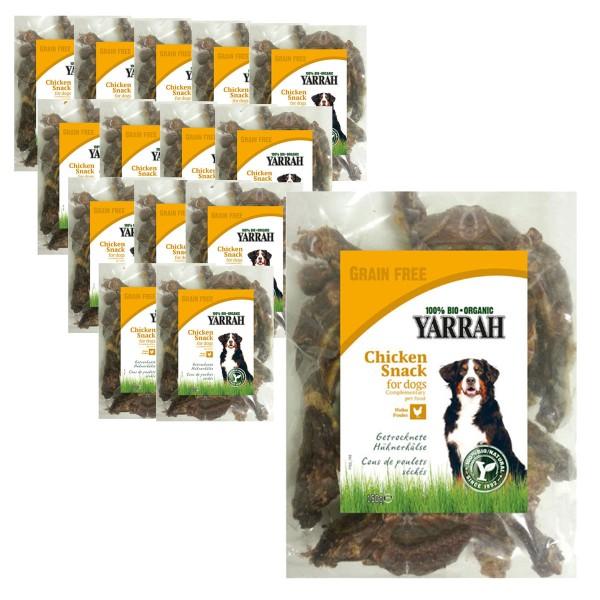 Yarrah Hundesnack Bio Hühnerhälse 2,25kg