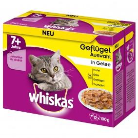 Whiskas Senior 7+ Geflügelauswahl in Gelee