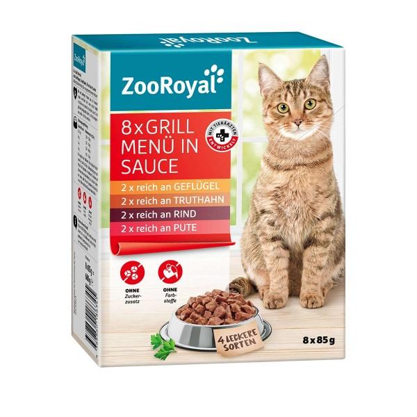 ZooRoyal Grill Menü in Sauce Multipack 8x85g