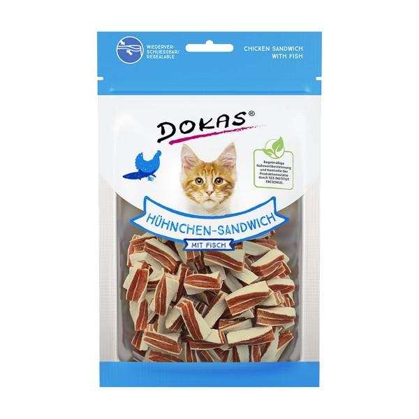 Dokas Katzensnack Hühnchen-Sandwich mit Fisch