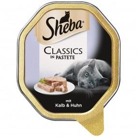 Sheba Katzenfutter Classics in Pastete Kalb & Huhn