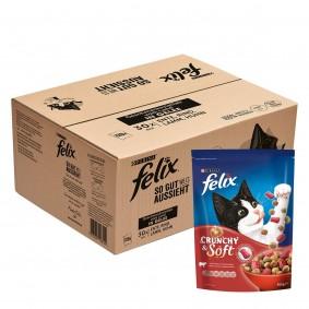 FELIX Geschmacksvielfalt vom Land in Gelee 120x85g + Crunchy & Soft Rind mit Huhn 4x950g