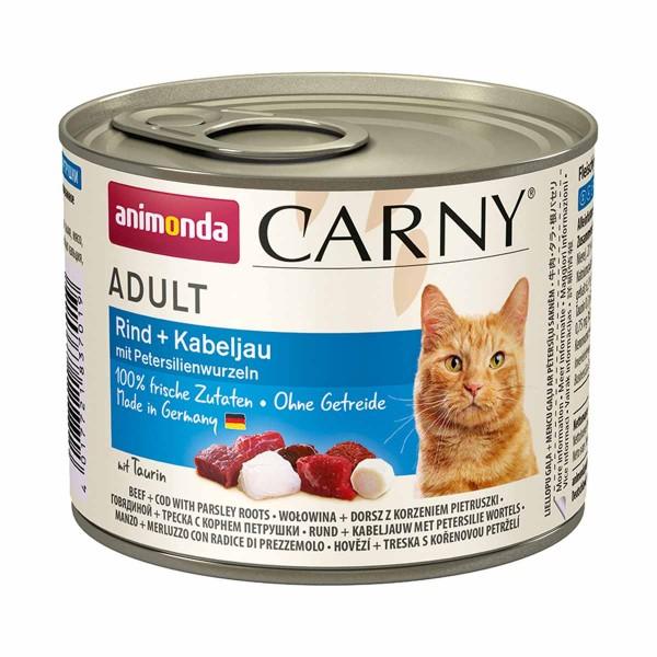 Animonda Katze Carny Adult Rind, Kabeljau & Petersilienwurzeln