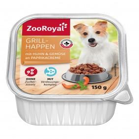 ZooRoyal Grillhappen Huhn & Gemüse an Paprikacreme
