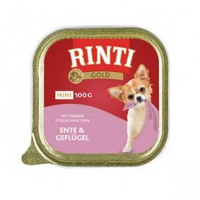 Rinti Gold Mini mit feinen Stückchen von Ente und Geflügel 100g