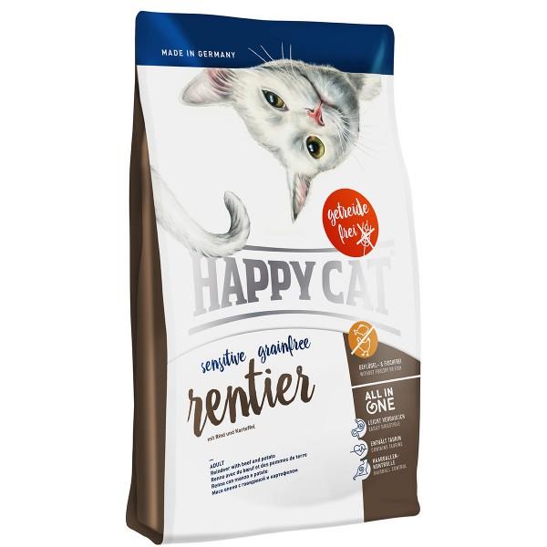 Happy Cat Sensitive Grainfree Rentier3x4kg