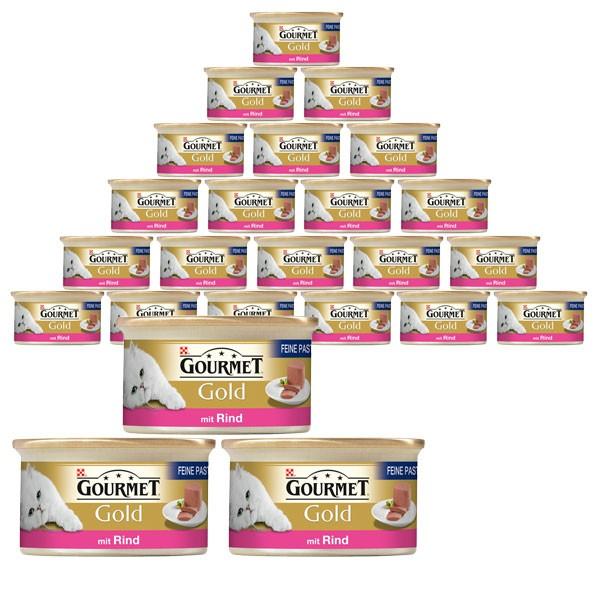 Gourmet Gold Katzenfutter Feine Pastete 24x85g