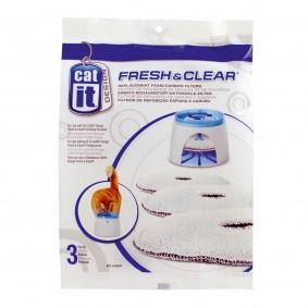 Catit Cartouches filtrantes de rechange pour fontaine à eau « Fresh & Clear »