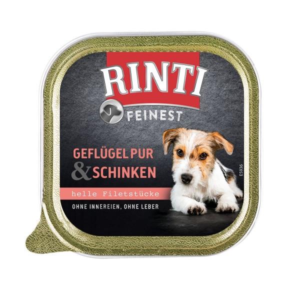 Rinti Hunde-Nassfutter Feinest Geflügel & Schinken 150g