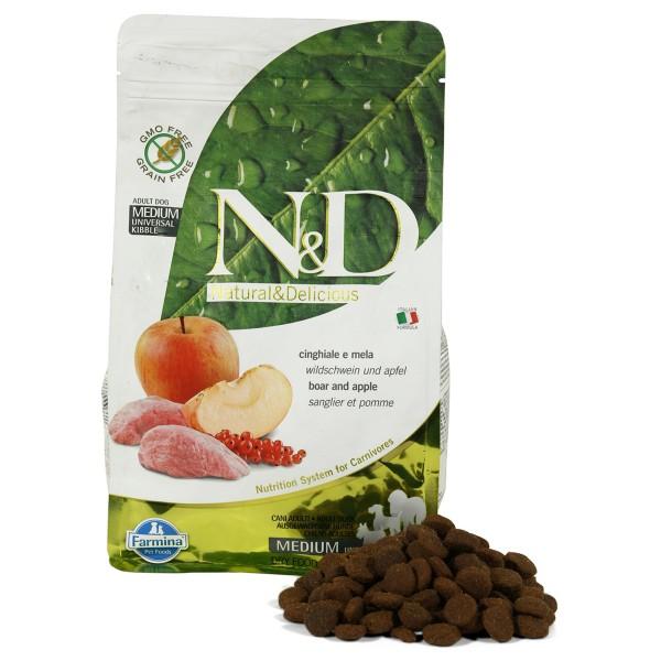 N&D Hundefutter Wildschwein&Apfel Adult getreidefrei