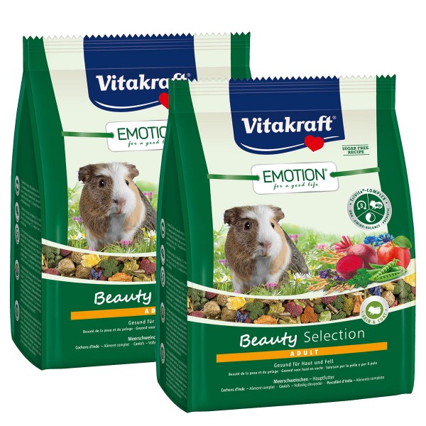 Vitakraft Emotion Beauty Selection Adult Meerschweinchen 2x1,5kg