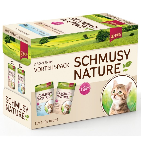 Schmusy Nature Katzenfutter Multibox Kitten 12x100g