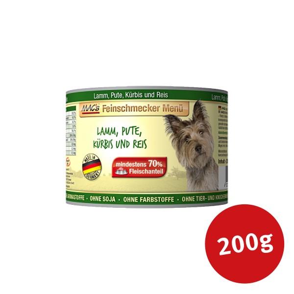 MACs Dog Hundefutter Feinschmecker Menü Lamm, Pute und Kürbis - 200g - Preisvergleich