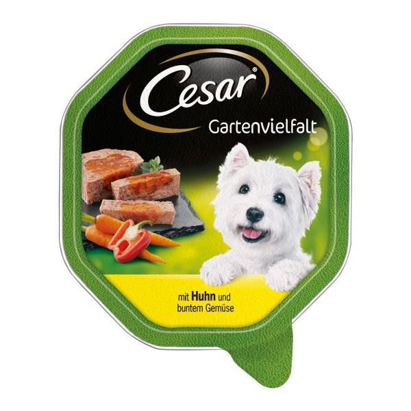 Cesar Gartenvielfalt mit Huhn und buntem Gemüse 24x150g