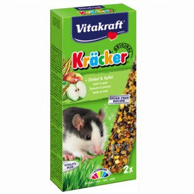 Vitakraft Kräcker mit Dinkel & Apfel für Ratten