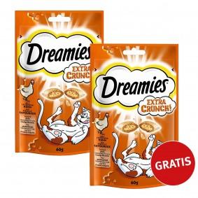 Dreamies Katzensnack Extra Crunch mit Huhn 60g 1 plus 1 gratis